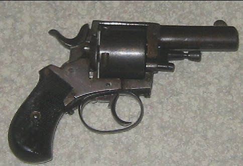 Antique Belgian British Bulldog Revolver cal. 455