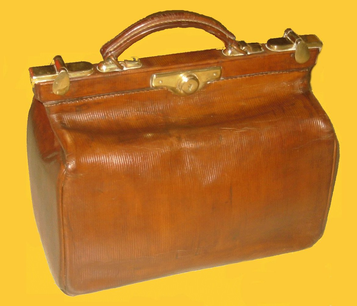 Antique leather luggage old leather doctor 39 s bags collectible gladstone b - Malle en cuir vintage ...