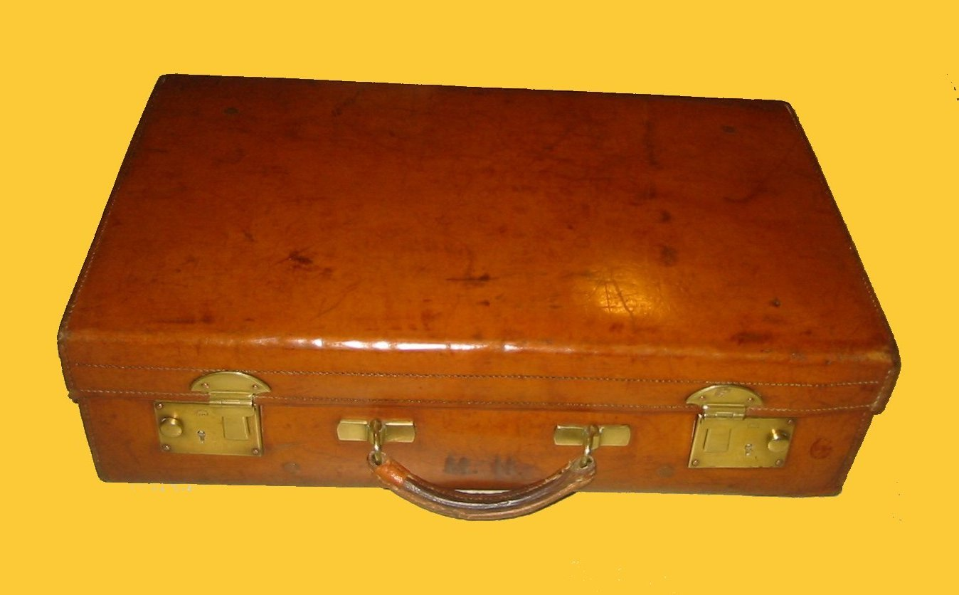 antique leather luggage old leather doctor's bags collectible ...