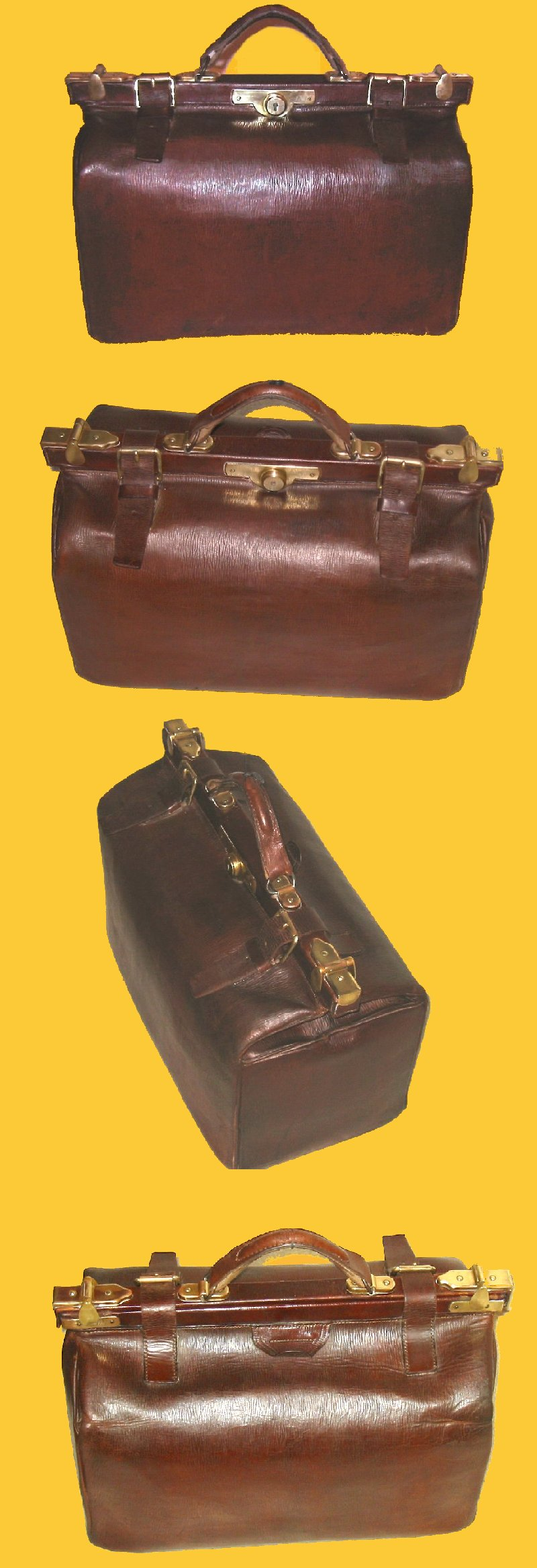 Grand sac de voyage ancien en cuir avec lani res c 1880 - Laniere en cuir ...